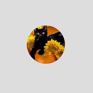 Halloween Cat Mini Button