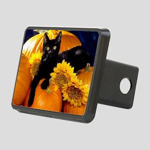 Halloween Cat Rectangular Hitch Cover