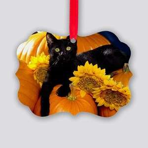 Halloween Cat Picture Ornament