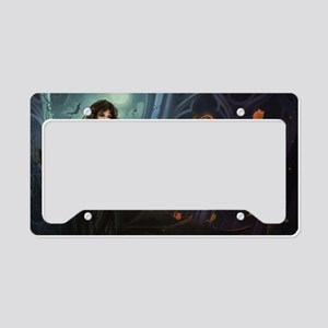 Haunting Halloween Beauty License Plate Holder