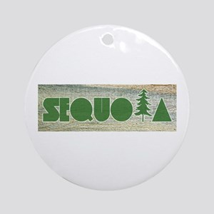 Sequoia National Park Round Ornament