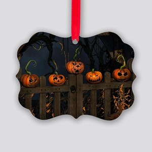 All the pretty pumpkins in a row Picture Ornament