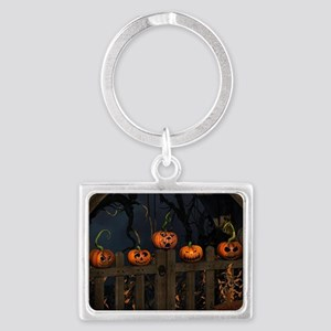 All the pretty pumpkins in a ro Landscape Keychain