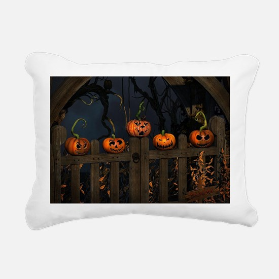All the pretty pumpkins  Rectangular Canvas Pillow