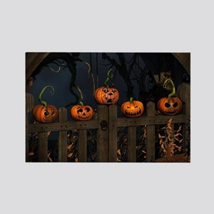 All the pretty pumpkins in a row Rectangle Magnet
