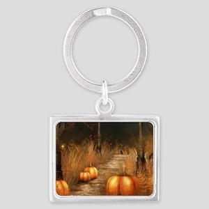 Take a walk in Autumns bounty Landscape Keychain