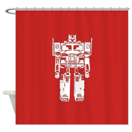 Optimus Prime Robot Shower Curtain By Transformers4