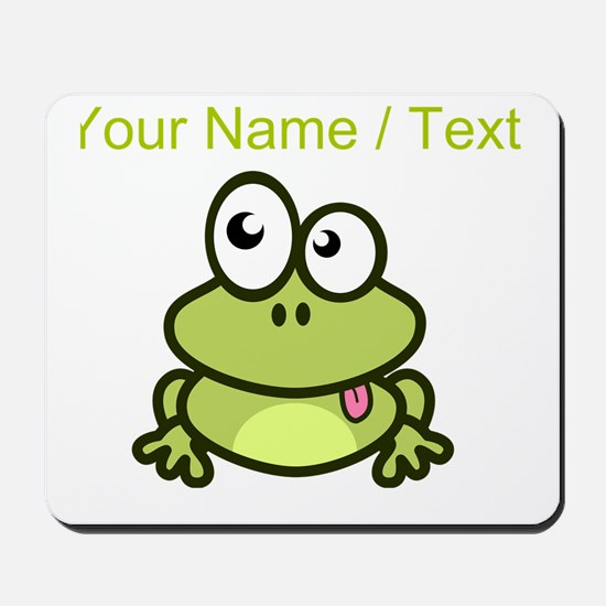 Custom Funny Cartoon Frog Mousepad