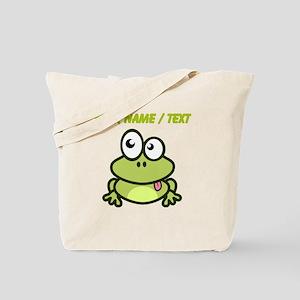 Custom Funny Cartoon Frog Tote Bag