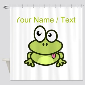 Custom Funny Cartoon Frog Shower Curtain