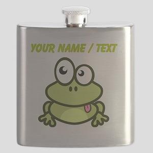 Custom Funny Cartoon Frog Flask