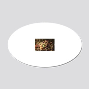 A bountiful harvest 20x12 Oval Wall Decal