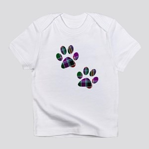Tartan Footprints Infant T-Shirt