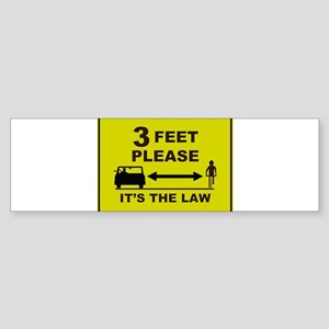 3 Feet Please Bumper Sticker