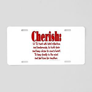 Cherish Aluminum License Plate