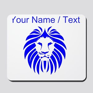 Custom Blue Lion Mane Mousepad