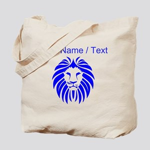 Custom Blue Lion Mane Tote Bag
