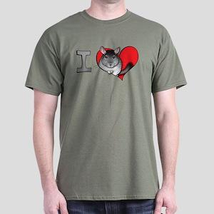 I heart chinchillas Dark T-Shirt