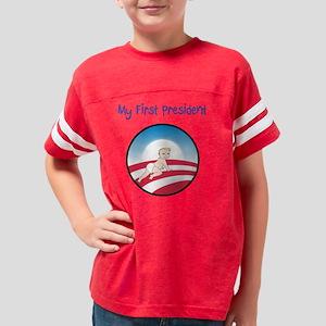 My First President Obama Logo Youth Football Shirt