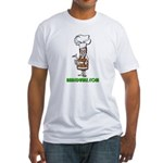 Authentic Naked Whiz Logo Fitted T-shirt