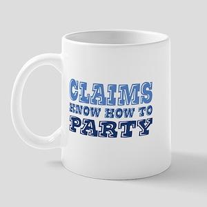 in blue Mug