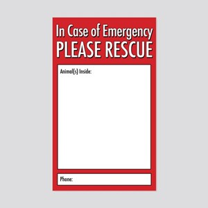Emergency Animal Rescue Sticker