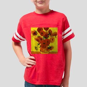 Van Gogh Fifteen Sunflowers Youth Football Shirt