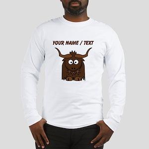 Custom Cartoon Yak Long Sleeve T-Shirt