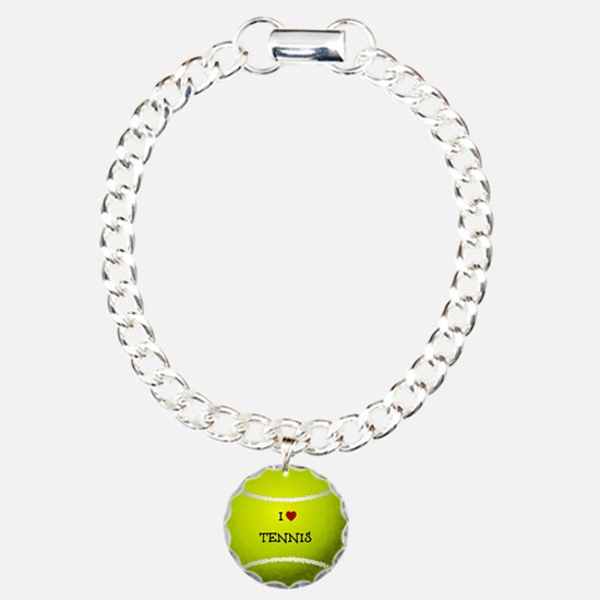 I Love Tennis on a Yello Bracelet