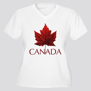 Canada Flag Maple Leaf Plus Size T-Shirt