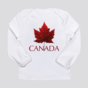 Canada Souvenir Maple Leaf Art Long Sleeve T-Shirt