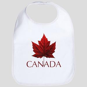 Canada Flag Maple Leaf Baby Bib