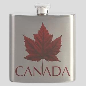 Canada Flag Maple Leaf Flask