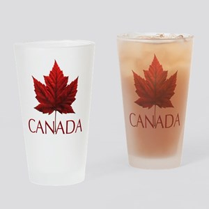 Canada Flag Maple Leaf Drinking Glass