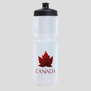Canada Flag Maple Leaf Sports Bottle