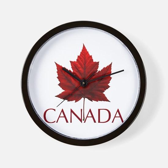 Canada Flag Maple Leaf Wall Clock