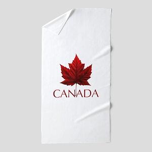Canada Flag Maple Leaf Beach Towel