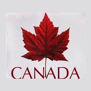Canada Flag Maple Leaf Throw Blanket