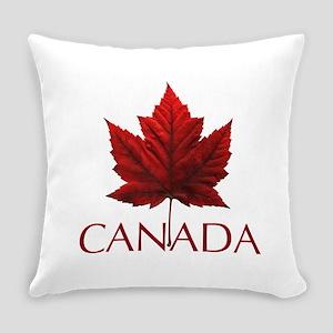 Canada Flag Maple Leaf Everyday Pillow