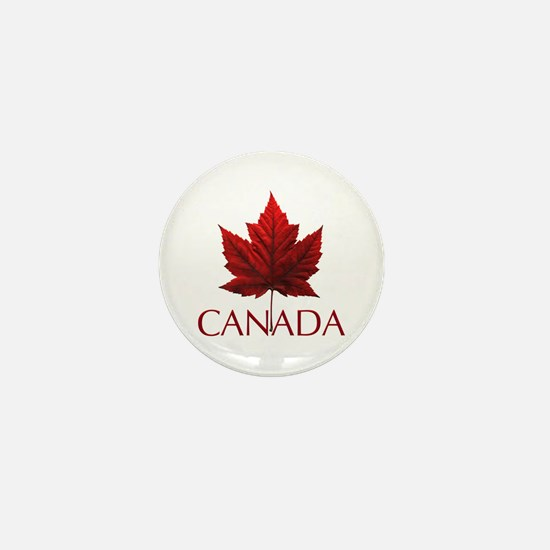 Canada Flag Maple Leaf Mini Button