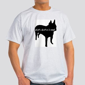 Adopt a Boston Silhouette Grey T-Shirt