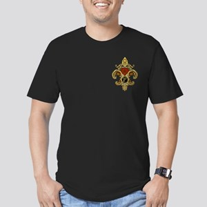 Monogram F Fleur de lis 2 Men's Fitted T-Shirt (da