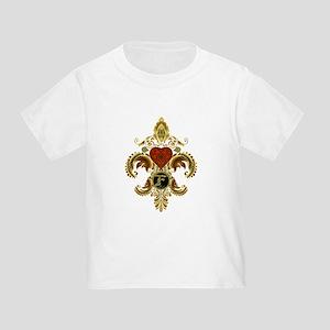 Monogram F Fleur de lis 2 Toddler T-Shirt