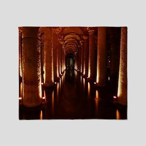 Basilica Cistern  (ISTANBUL) Throw Blanket