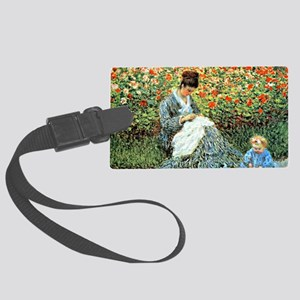 Camille Monet and Child Large Luggage Tag