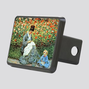 Camille Monet and Child Rectangular Hitch Cover