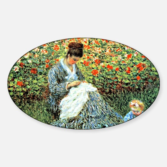 Camille Monet and Child Sticker (Oval)