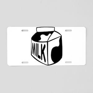 Milk Carton Aluminum License Plate