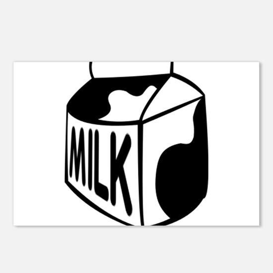 Milk Carton Postcards (Package of 8)