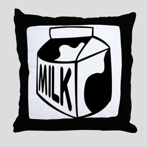 Milk Carton Throw Pillow